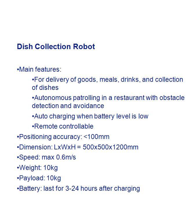 机器人参数-english